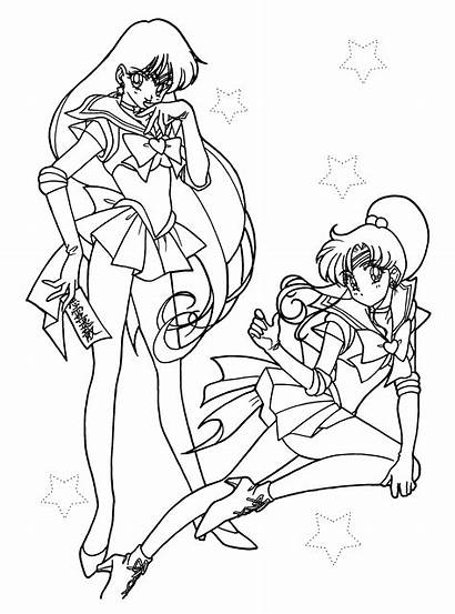 Coloring Tv Pages Series Sailormoon Picgifs