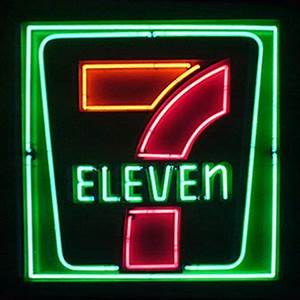 7 Eleven neon sign 7 Eleven Pinterest