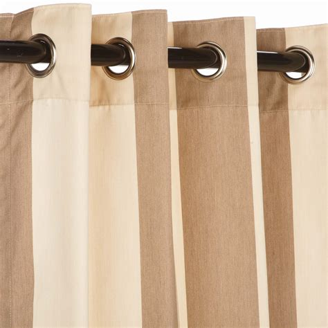 sunbrella curtains with grommets regency sand sunbrella nickel grommeted outdoor curtain
