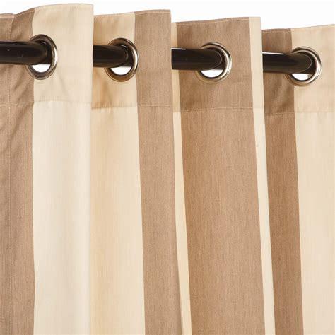 regency sand sunbrella nickel grommeted outdoor curtain