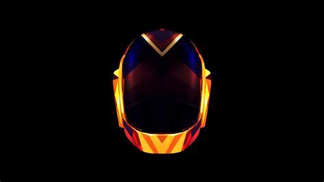 Justin Maller, Daft Punk, music, orange, black, digital ...