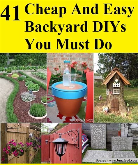 41 cheap and easy backyard diys you must do home and