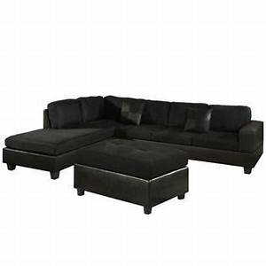 dallin sectional sofa and ottoman black left side With sectional sofa in sears