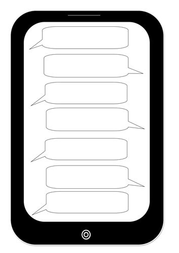 Conversation Roundtable Template by Text Message Template By Suzbrawn Teaching Resources Tes