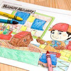 free template coloring page Handy Manny