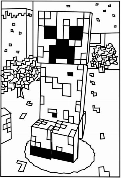 Minecraft Coloring Creeper Printable Pages Sheets