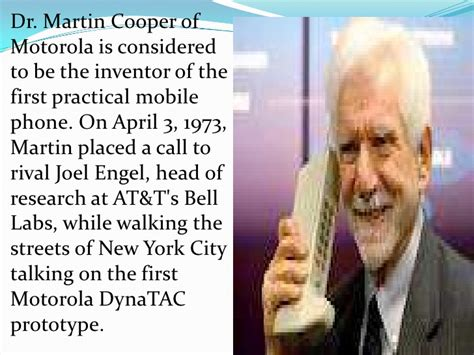 cell phone inventor presentation on mobile phones