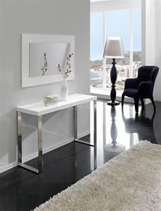 Console Ameublement : consolde design blanc moda zd1 consol m d ~ Melissatoandfro.com Idées de Décoration