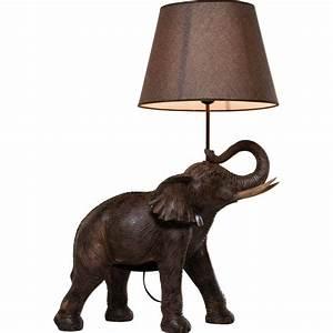 Kare Design Lampe : lampe de table elephant safari kare design ~ Orissabook.com Haus und Dekorationen