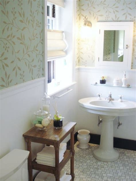 Designer Bathroom Wallpaper by Wallpaper In Bathroom Home Design Ideas Pictures Remodel