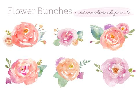 free watercolor clipart watercolor flower clipart