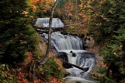 Michigan Waterfalls Falls Sable Waterfall Round Rocks