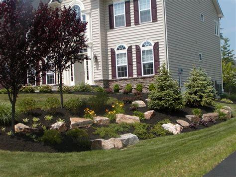 corner house landscaping photo gallery r r caddick landscape design