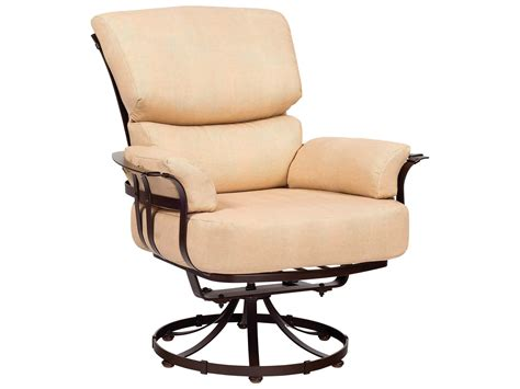 woodard atlas wrought iron swivel lounge chair 2l0077