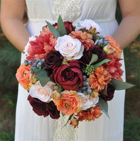 Fall Bridal Bouquet Diy Wedding Fall Wedding Bouquets