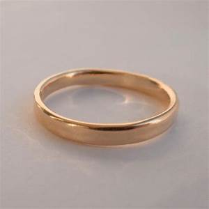 simple gold wedding band 14k rose gold ring unisex With simple wedding rings for men