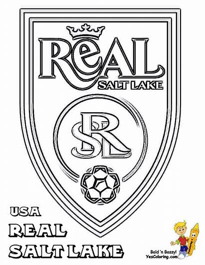 Soccer Coloring Salt Lake Sheets Mls Pages