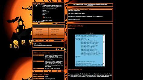 myspace halloween themes templates  premium