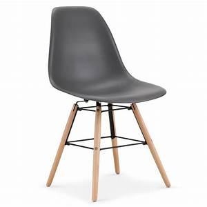 Lot Chaises Scandinaves : chaises scandinaves elies gris lot de 4 pas cher scandinave deco ~ Teatrodelosmanantiales.com Idées de Décoration
