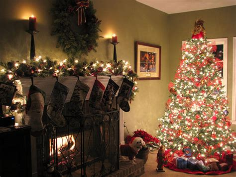 christmas tree   fireplace pictures