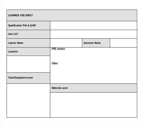 template job card