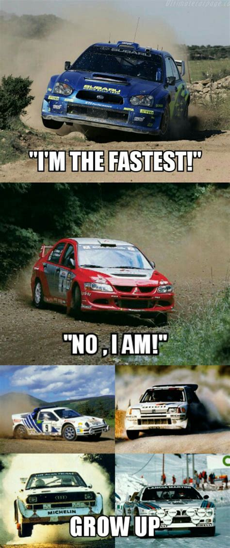 evo subaru meme regarding the whole sti vs evo rivalry