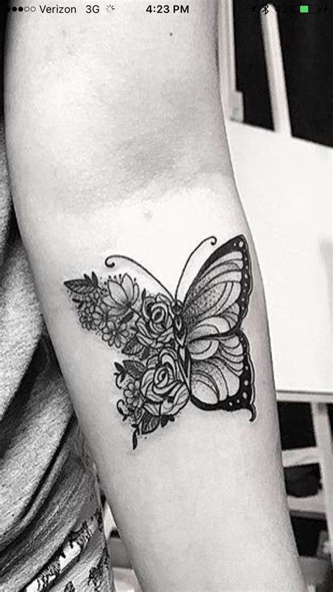 flower butterfly tattoo tatoos tattoos flower tattoos