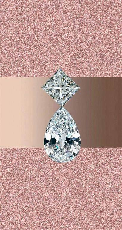 Rose Gold Diamond Silver Bling Glittery Iphone