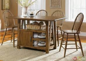 kitchen island tables with storage farmhouse counter height storage table casual dining set