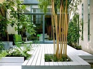 Gros Bambou Deco : comment am nager un jardin zen agencement pinterest terrasses en bois plante grimpante ~ Teatrodelosmanantiales.com Idées de Décoration
