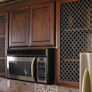 how to install decorative wire grilles van dykes restorers With kitchen cabinets lowes with wire mesh wall art