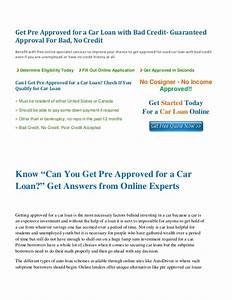 can i get pre approved for a car loan With does a mortgage pre approval letter guarantee financing
