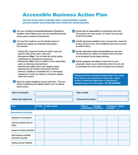 Commitment Action Document Template by 11 Sle Business Action Plans Sle Templates