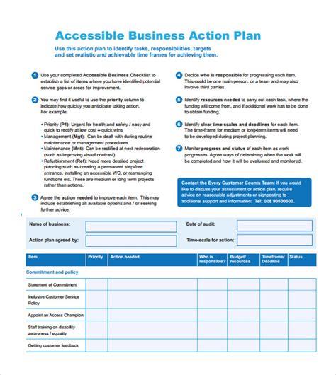 commitment action document template 11 sle business action plans sle templates