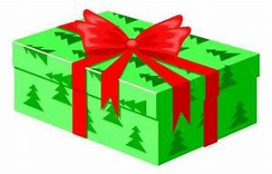 Free Clip Art Picture Of A Present Wrapped For Christmas