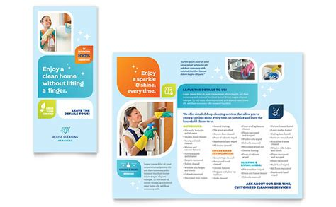 Product Brochure Template Free Cleaning Services Brochure Template Design