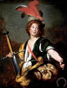 Bernardo Strozzi David with The Head of Goliath painting ...
