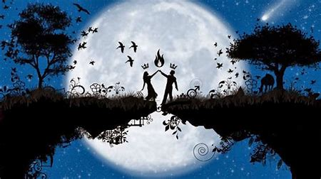 Image result for Romantic Couple Kissing Moonlight