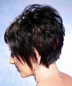 Short Straight Black Bright Hairstyle