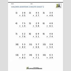 2 Digit Addition Worksheets