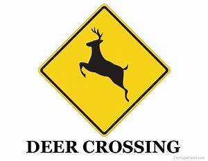 Printable Deer Crossing Sign