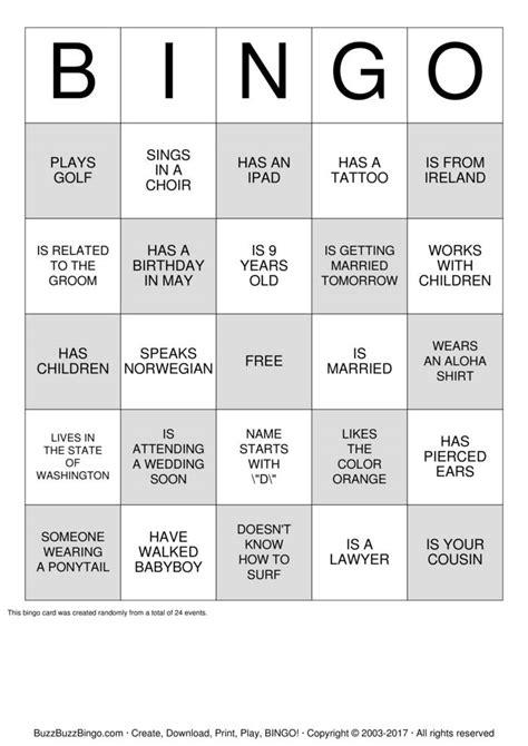 icebreaker bingo bingo cards   print  customize