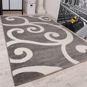 designer teppich muster in grau weiss top qualitat zum top With balkon teppich mit tapete grau weiß