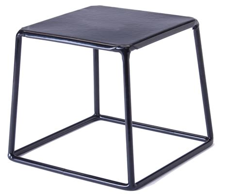 table top display risers durable riser stand black finished steel trapezoid design
