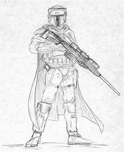 Mandalorian Coloring Pages Sniper Armor Wars Star