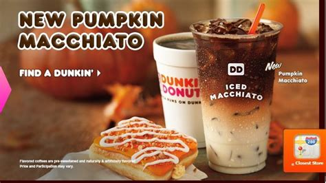 Dunkin Releases Pumpkin Macchiato On National Coffee Day Piccolo Coffee Dolce Gusto Ground Maker Reviews Machine Tesco Marley Reykjavik Keurig 2017 Sunderland With Cream Bob Quotes