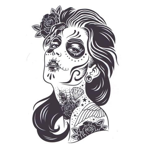 Dias Los Muertos Girl Tattumi Temporary Tattoos