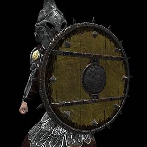 Heavy Spiked Round Shield