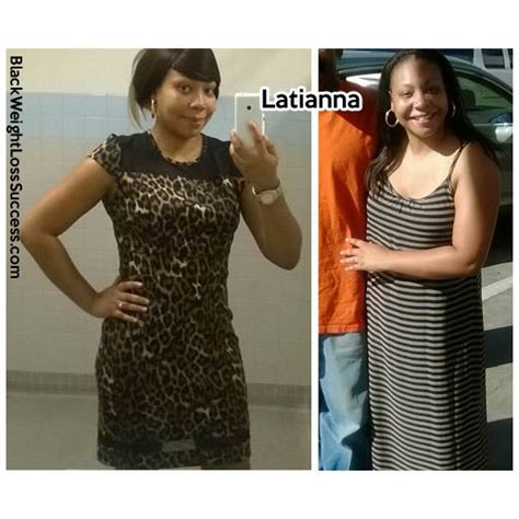 latiana lost  pounds black weight loss success