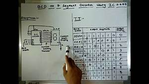 Bcd To 7 Segment Decoder Using Ic 7447